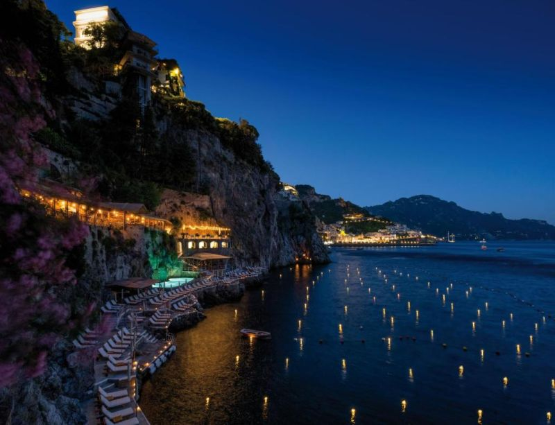 Hotel Santa Caterina. Offering breathtaking views of the Amalfi Coast, Hotel Santa Caterina is an Art Nouveau villa built on a rock that overlooks the sea.