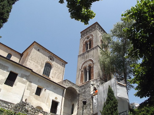 Ravello Cathedral. Ravello is a refined, polished town almost entirely dedicated to tourism