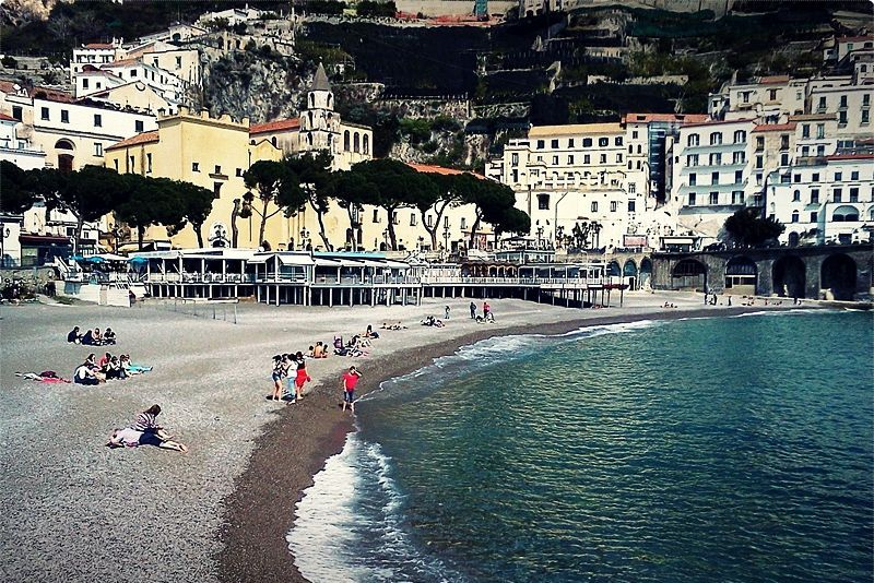 Amalfi Town, the gem of the Amalfi Coast, is a large popular resort that has retained its history and values. The town has a 9th Century Cathedral which is one of the main attractions along with the Cloister of Paradise.