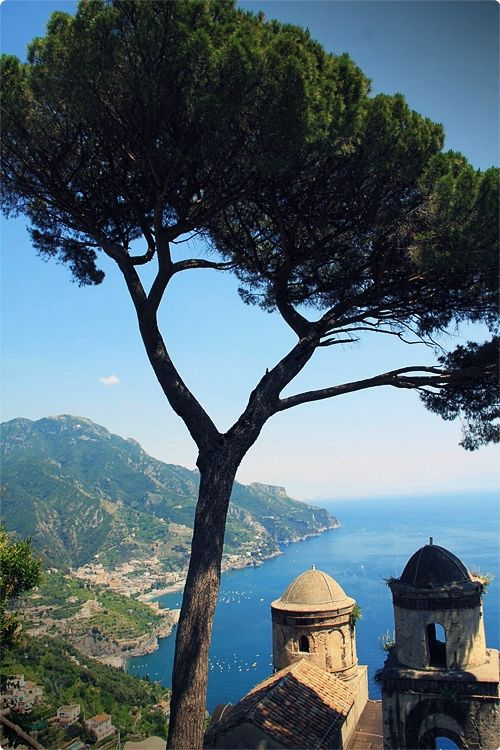 Ravello: Perched high above the Amalfi coastline, little Ravello offers a unique hilltop view that the other small towns don't.