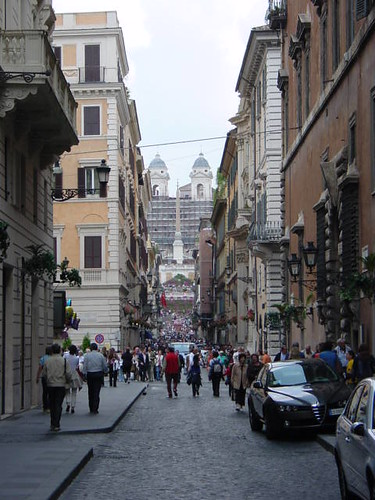 The primary shopping areas that many tourists visit are Via Condotti and Via del Corso.