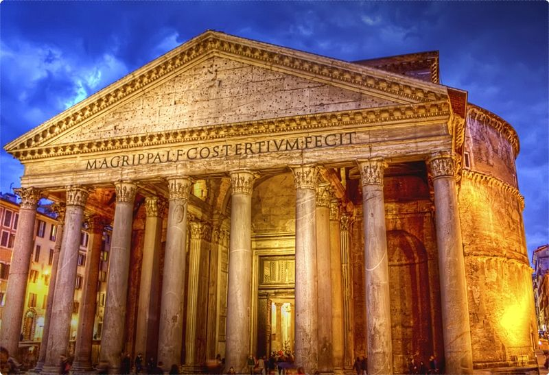 The Pantheon in Rome, Italy is one of the most visited tourist spots in the the whole of Italy and is the third most visited monument in Rome after Coliseum and Vatican Museums.