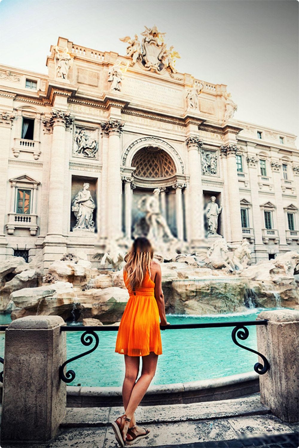 The Trevi Fountain is where you can also toss a coin for good luck.